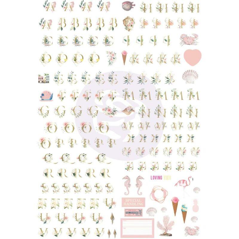 Prima Marketing - Golden Coast Alphabet Stickers (5 Sheets)