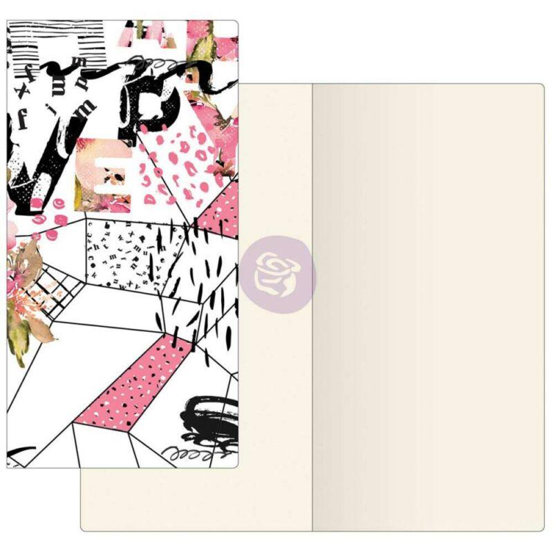 Prima Traveler's Journal Notebook füzet elefántcsont papír - Mosaic