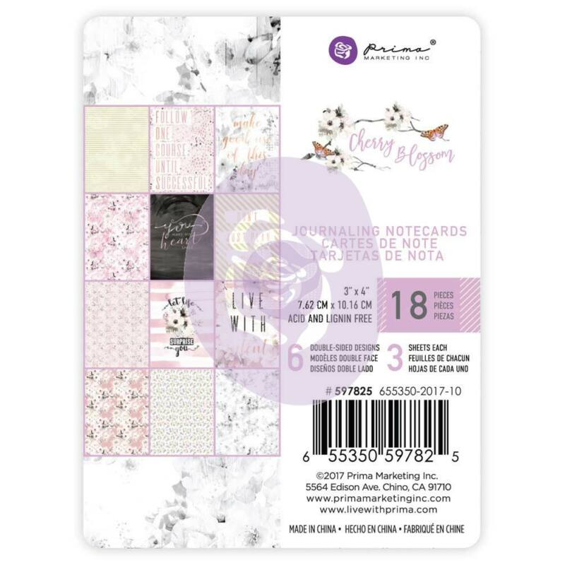 Prima Marketing - Cherry Blossom 3x4 Journaling Cards
