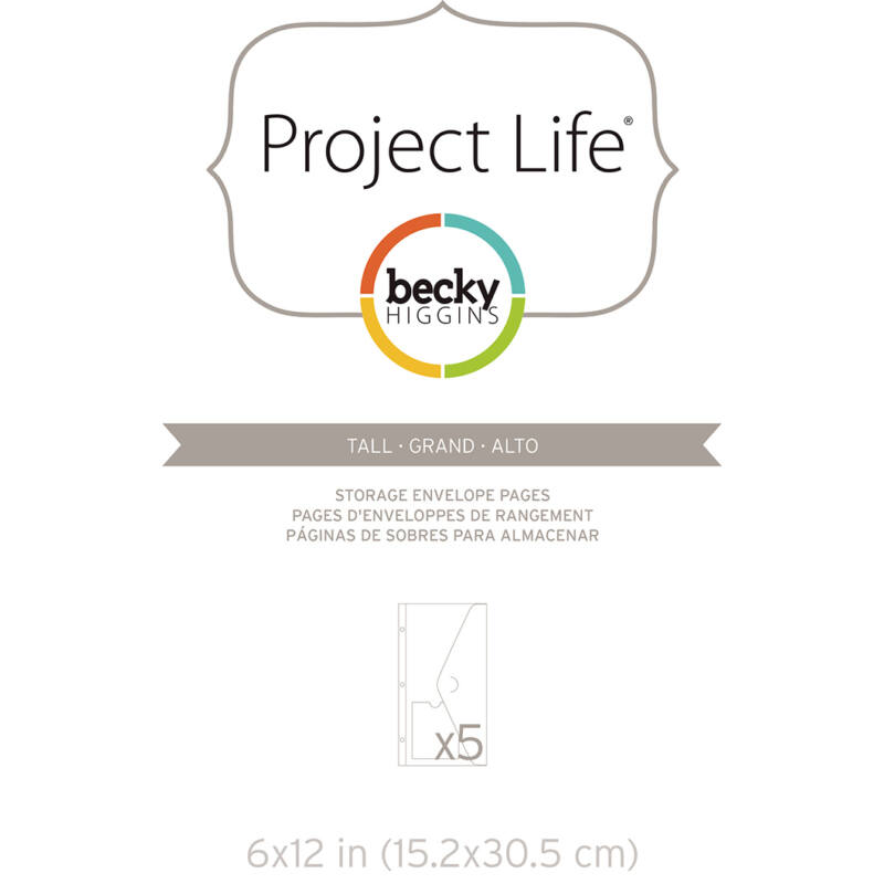 Project Life - Becky Higgins 6x12 Envelope Pages (5 Pieces)