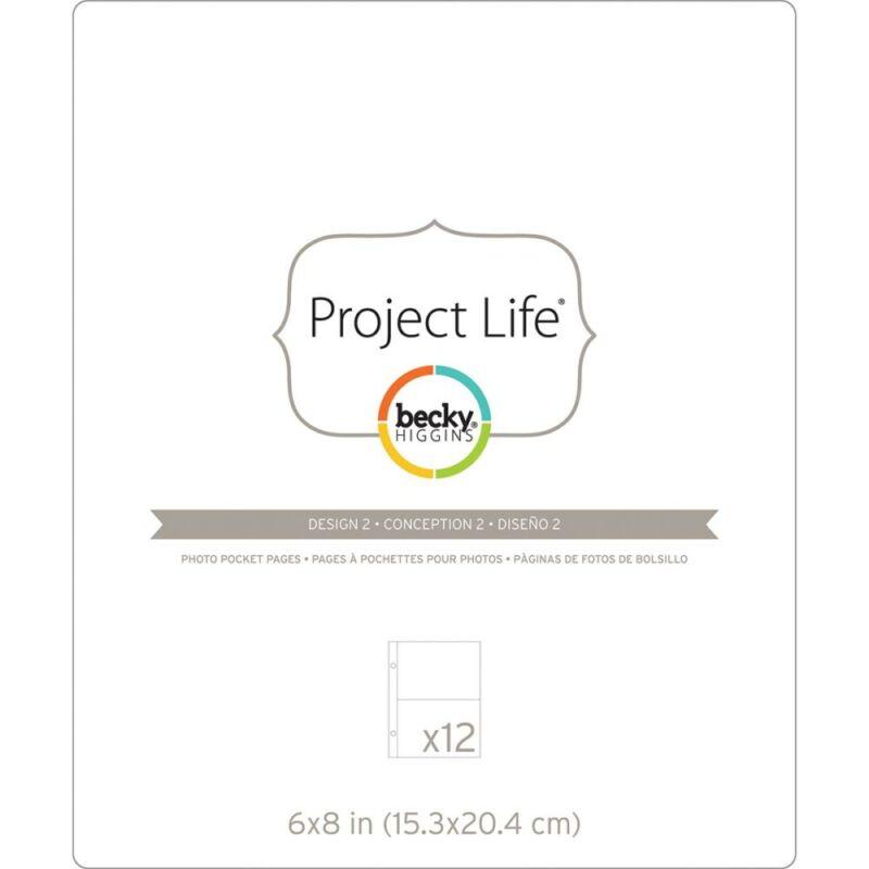 Becky Higgins - Project Life - 6 x 8 Pocket Pages - Design 2