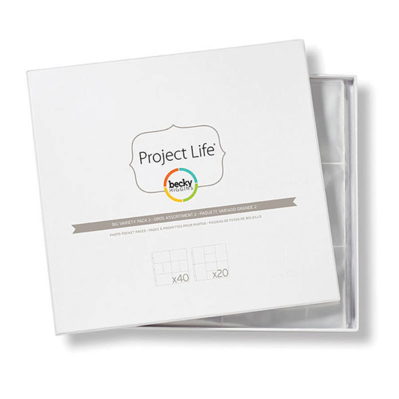 Project Life - Becky Higgins 12x12 Big Variety Pack 2 (60 Pieces)