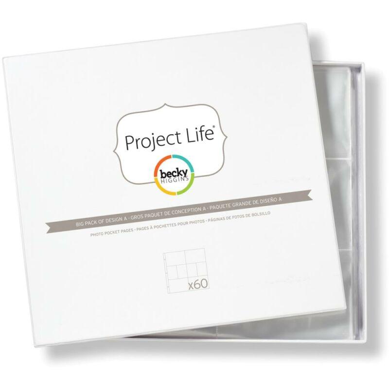 Project Life - Becky Higgins 12 x 12 Photo Pockets - Design A 60/Pkg