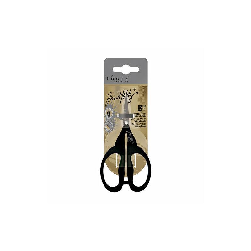 """Tim Holtz Non-Stick Micro Serrated Mini Snips Scissor 5"""""""