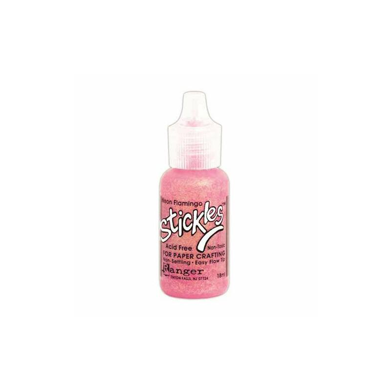 Ranger Stickles Glitter Glue .5oz - Neon Flamingo