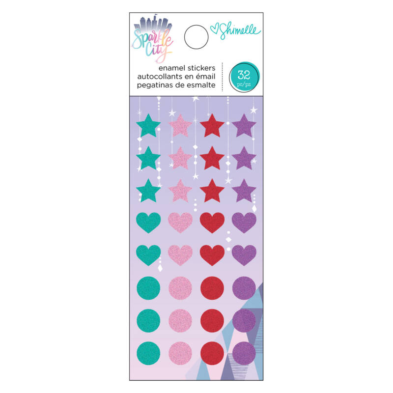 American Crafts - Shimelle - Sparkle City Enamel Dots (32 Piece)