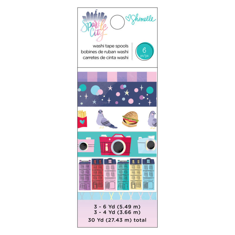 American Crafts - Shimelle - Sparkle City washi szett (6 db)
