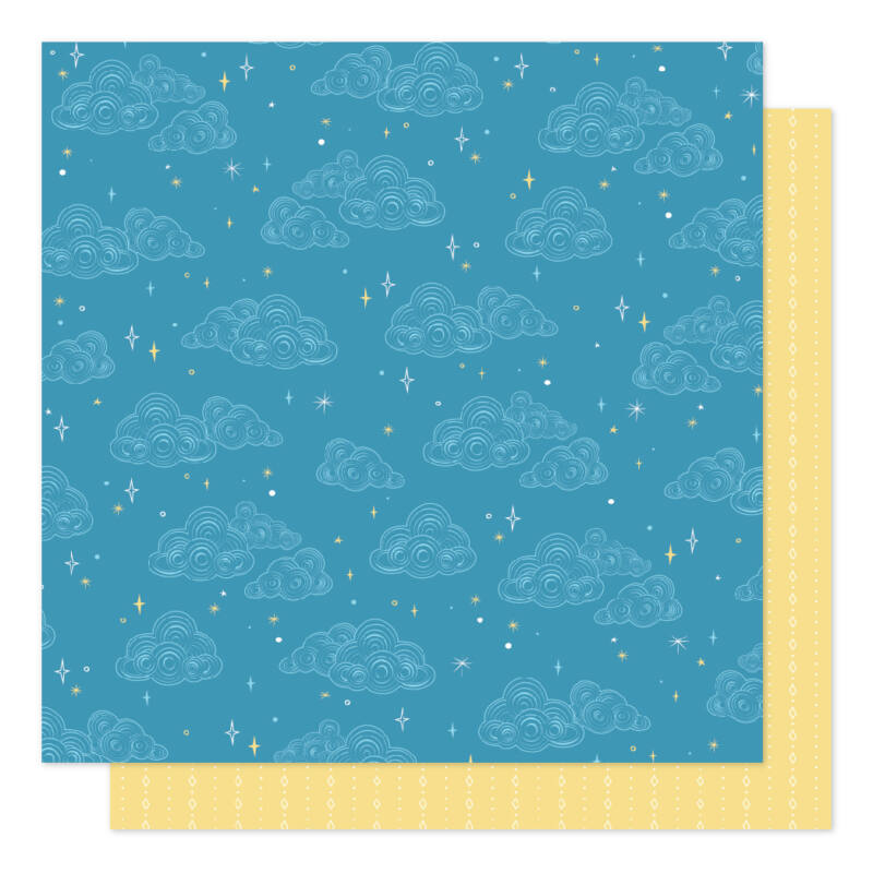 American Crafts - Shimelle - Sparkle City 12x12 scrapbook papír - Stargazing