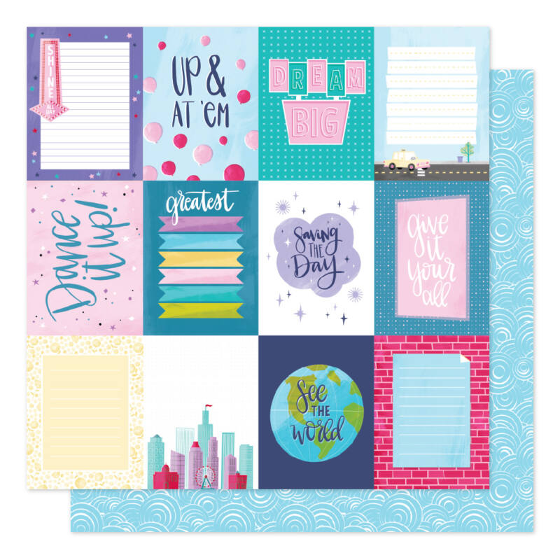 American Crafts - Shimelle - Sparkle City 12x12 Patterned Paper - Dream Big