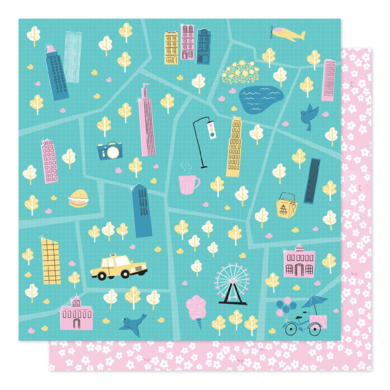 American Crafts - Shimelle - Sparkle City 12x12 scrapbook papír - Tour Guide