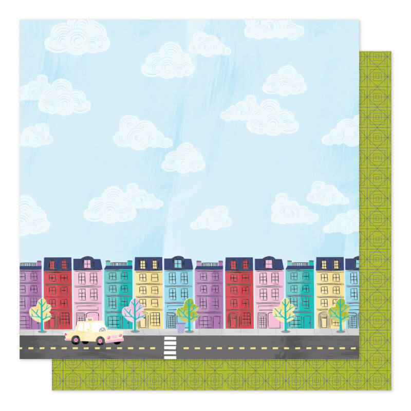 American Crafts - Shimelle - Sparkle City 12x12 Patterned Paper - Painted Ladies