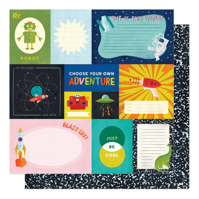 American Crafts - Shimelle - Field Trip 12x12 Patterned Paper - Choose Adventure