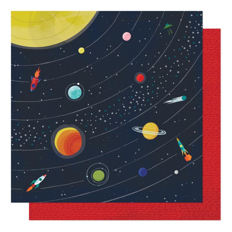 American Crafts - Shimelle - Field Trip 12x12 scrapbook papír - Far Far Away