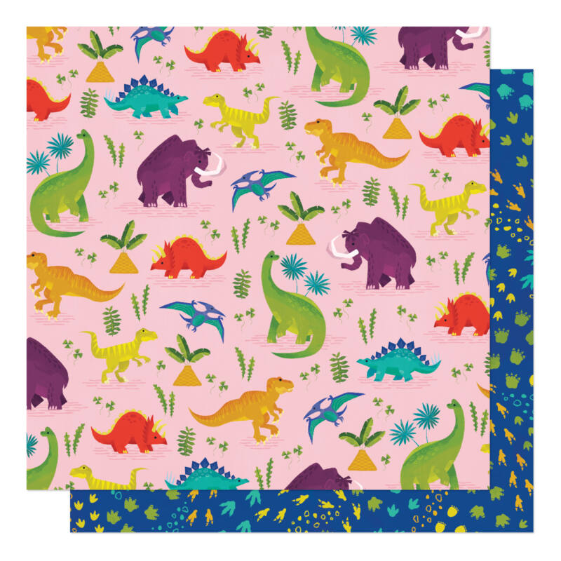 American Crafts - Shimelle - Field Trip 12x12 Patterned Paper - Long Long Ago