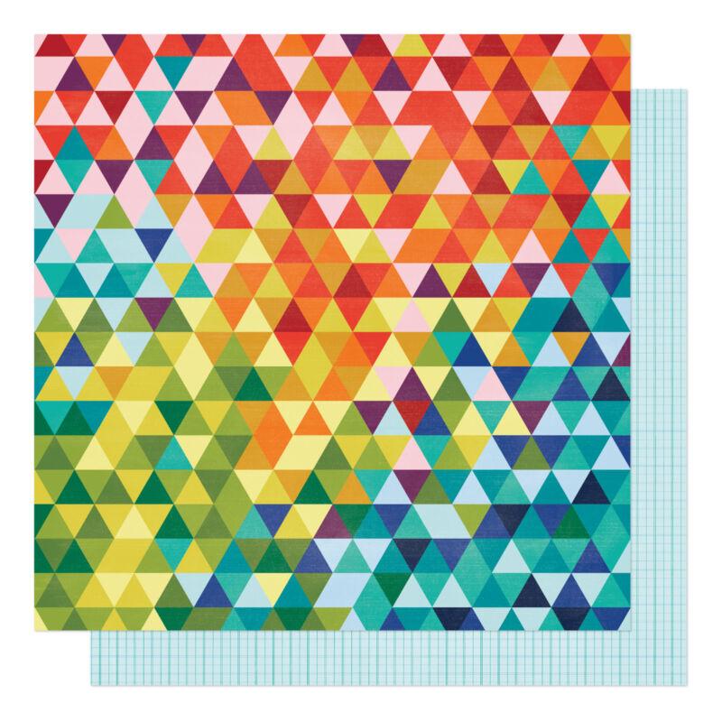 American Crafts - Shimelle - Field Trip 12x12 scrapbook papír - Seek Knowledge