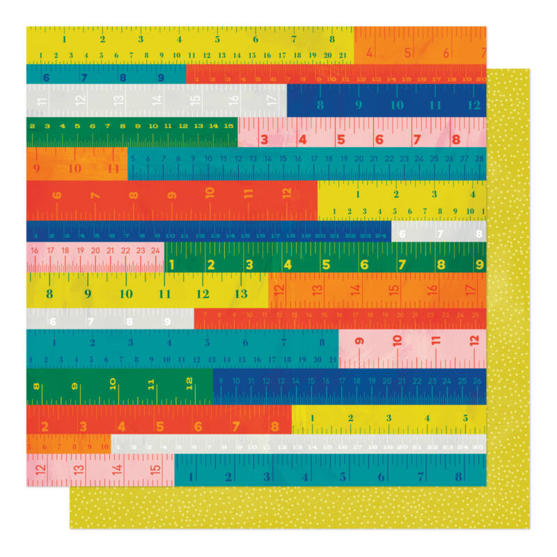 American Crafts - Shimelle - Field Trip 12x12 Patterned Paper - Measure Up