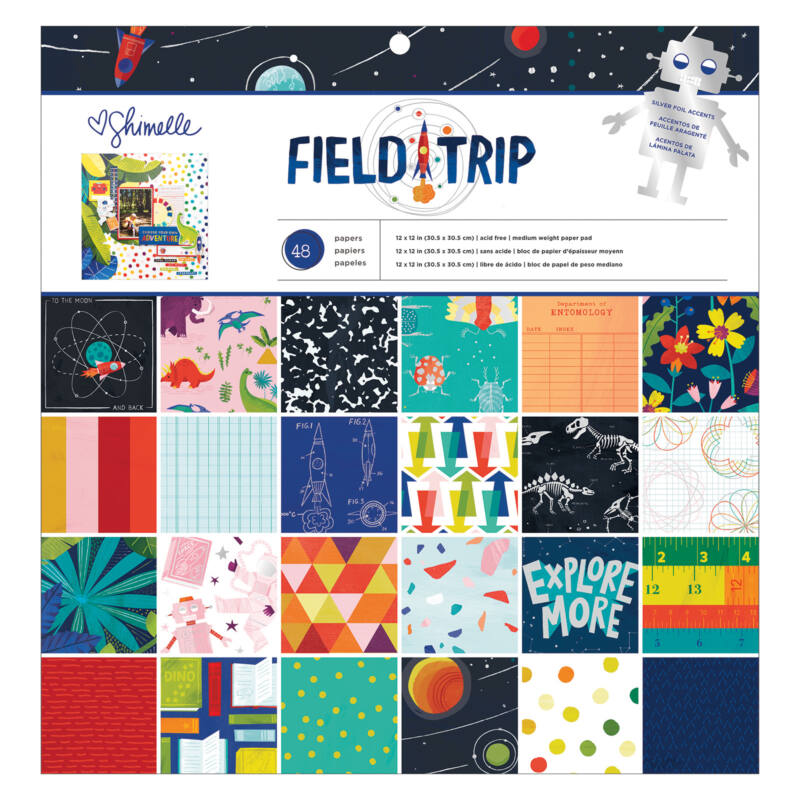 American Crafts - Shimelle - Field Trip 12x12 Paper Pad (48 Sheets)