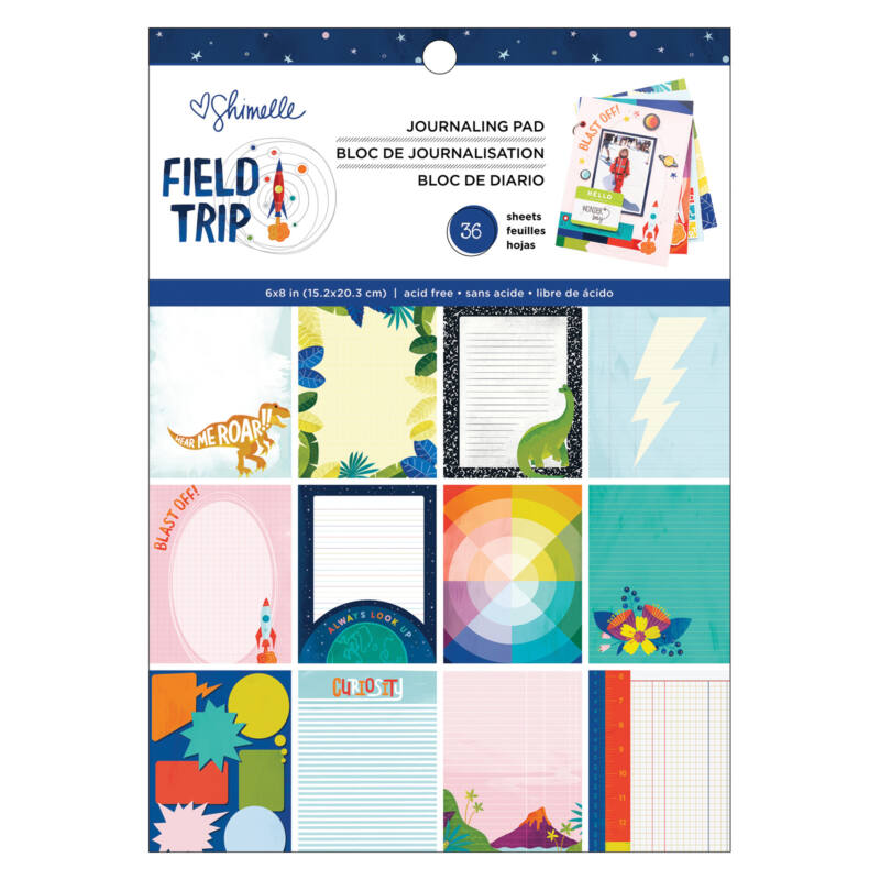 American Crafts - Shimelle - Field Trip 6x8 Paper Pad (36 Sheets)