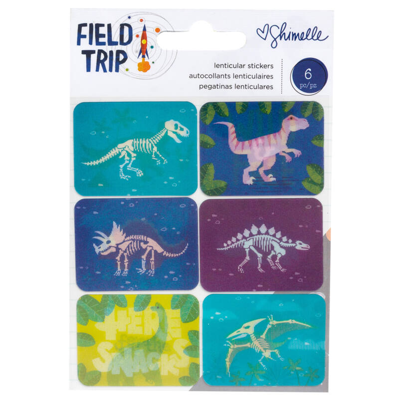 American Crafts - Shimelle - Field Trip Lenticular dínó matrcia (6 db)