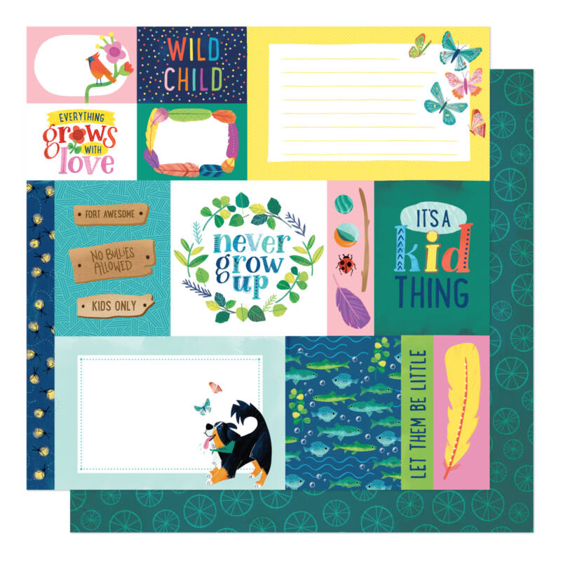 American Crafts- Shimelle - Never Grow Up 12x12 Paper - Forever Young