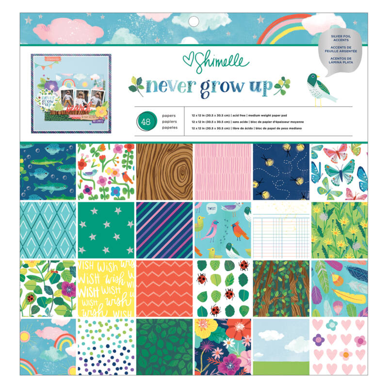American Crafts- Shimelle - Never Grow Up 12x12 Paper Pad (48 Sheets)