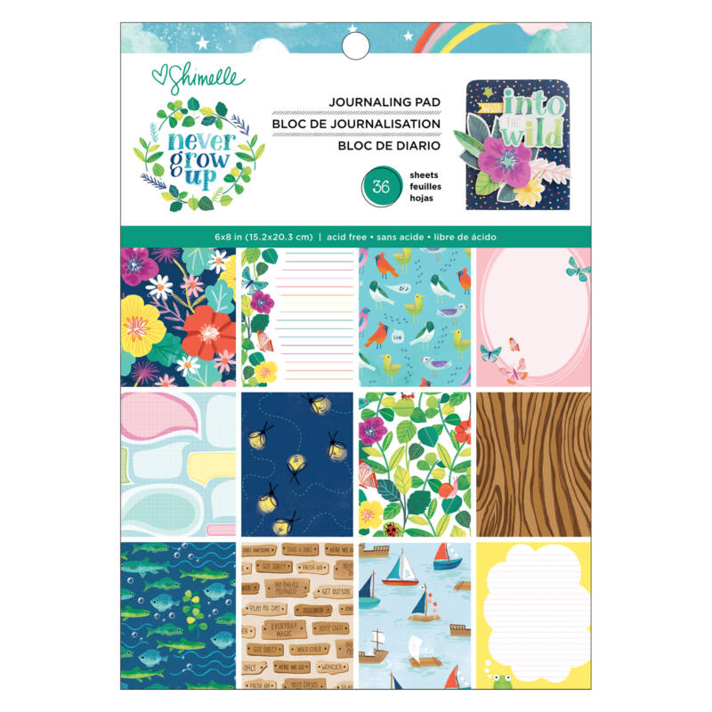 American Crafts- Shimelle - Never Grow Up 6x8 Journaling Pad (36 Sheets)
