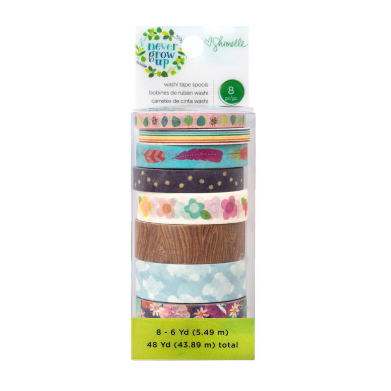 American Crafts- Shimelle - Never Grow Up washi szett (8 db)