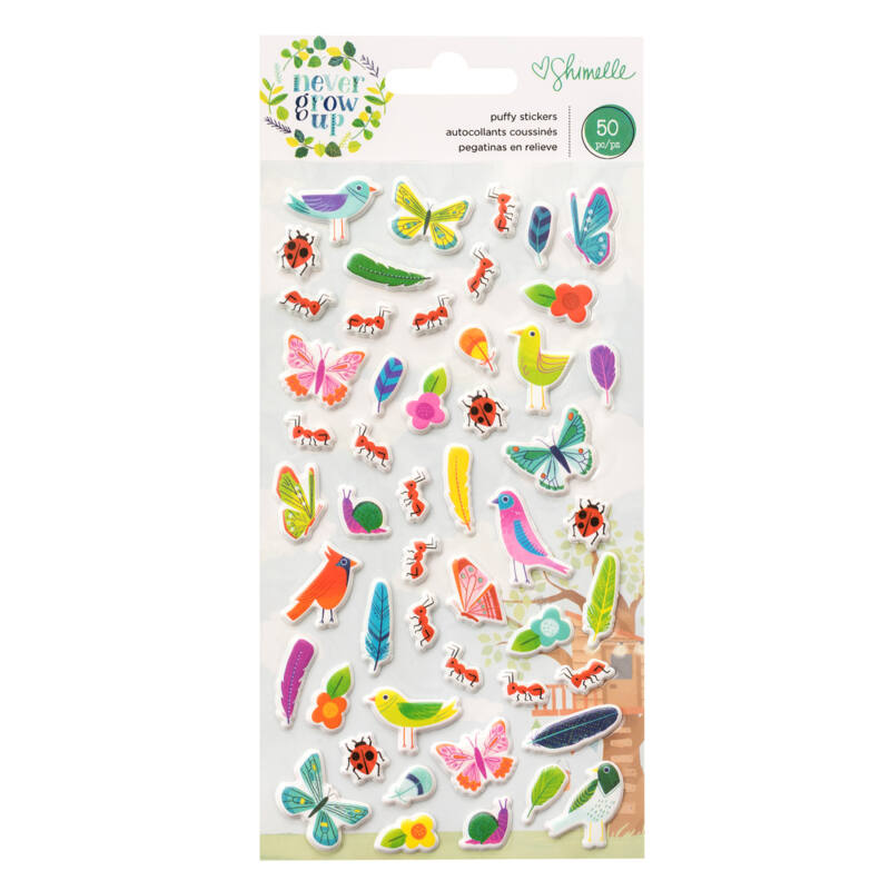 American Crafts- Shimelle - Never Grow Up Puffy Stickers (50 Piece)
