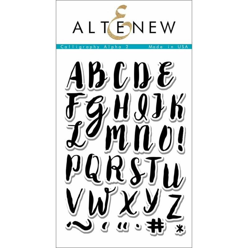 Altenew Calligraphy Alpha Uppercase Stamp Set