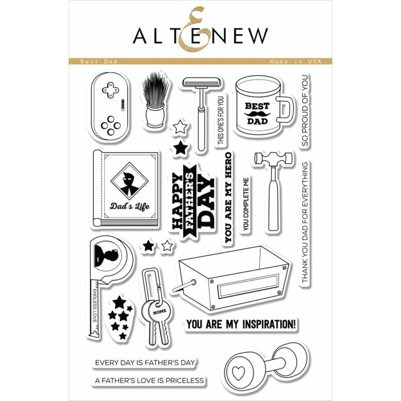 Altenew Best Dad Stamp Set