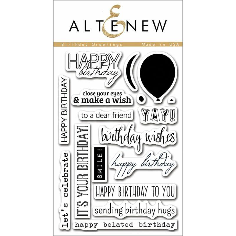 Altenew Birthday Greetings Stamp Set