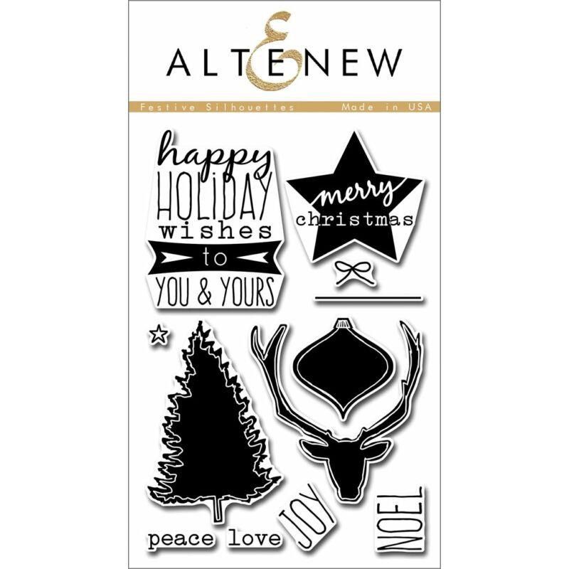 Altenew Festive Silhouettes Stamp Set