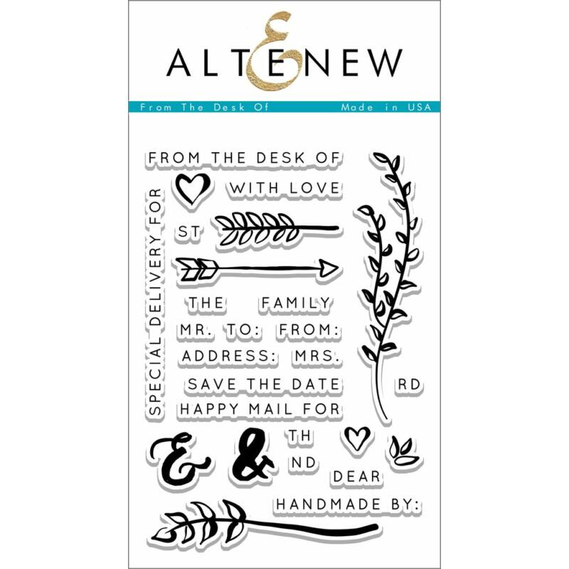 Altenew From The Desk Of Stamp Set