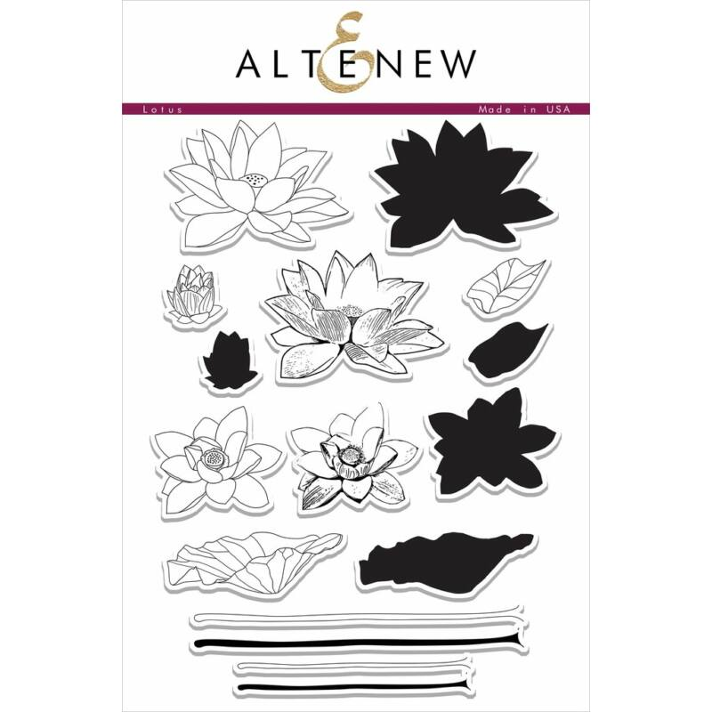 Altenew Lotus Stamp Set