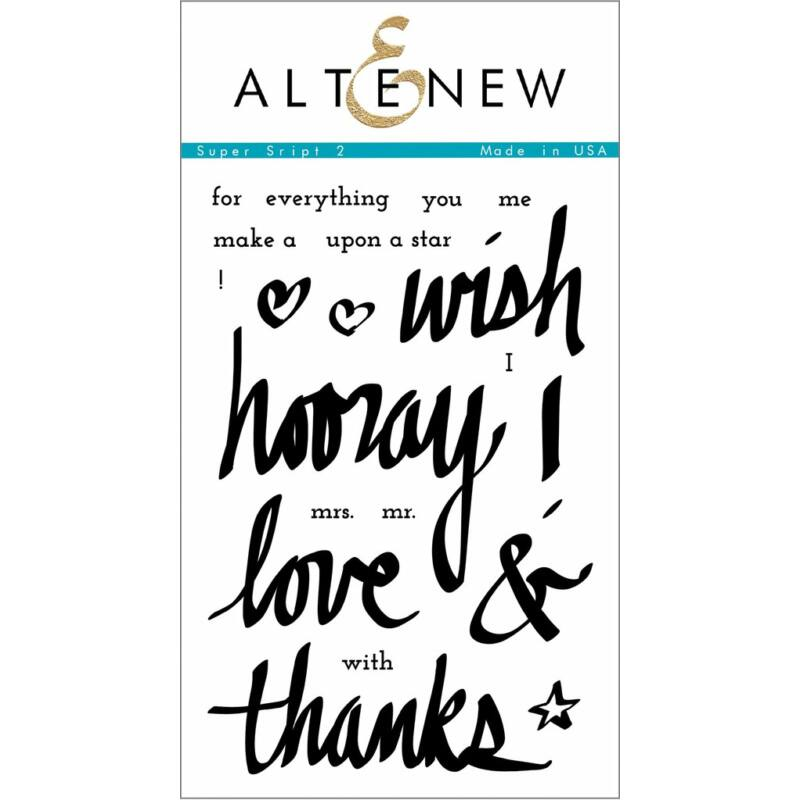 Altenew Super Script 2 Stamp Set