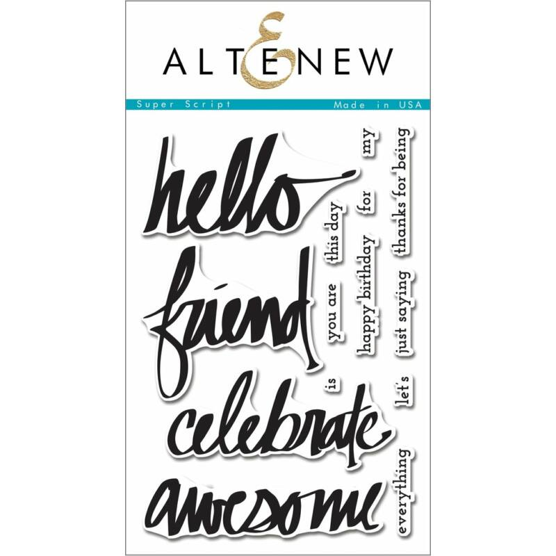 Altenew Super Script Stamp Set