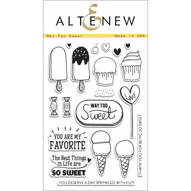 Altenew Way Too Sweet Stamp Set
