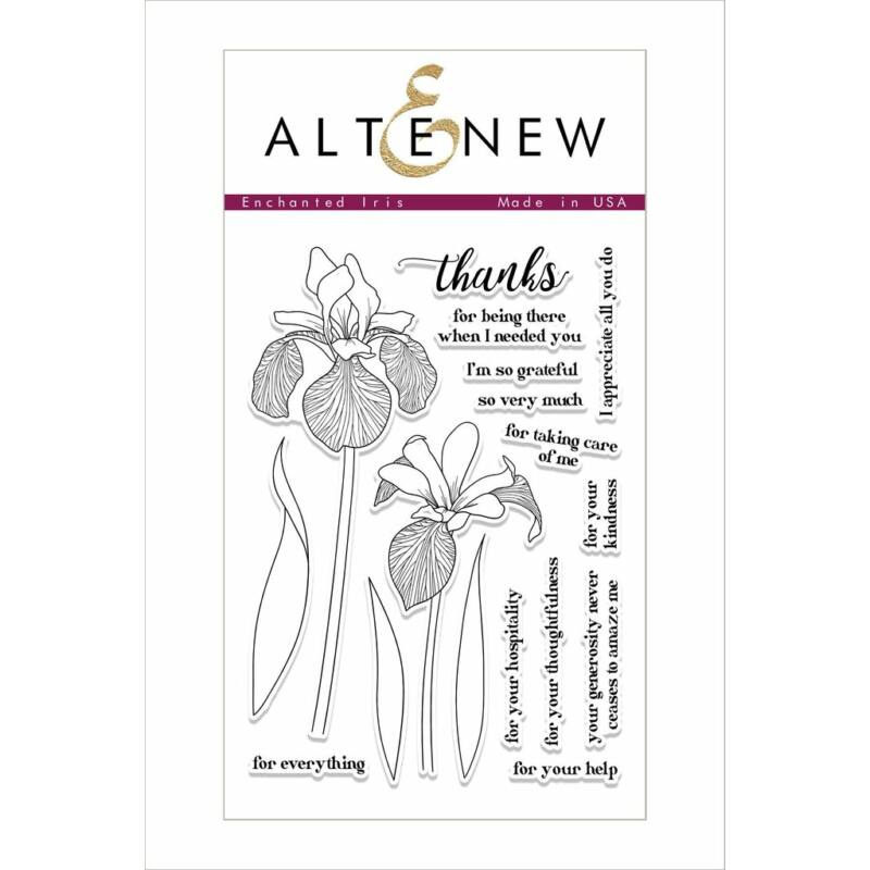 Altenew Enchanted Iris Stamp Set