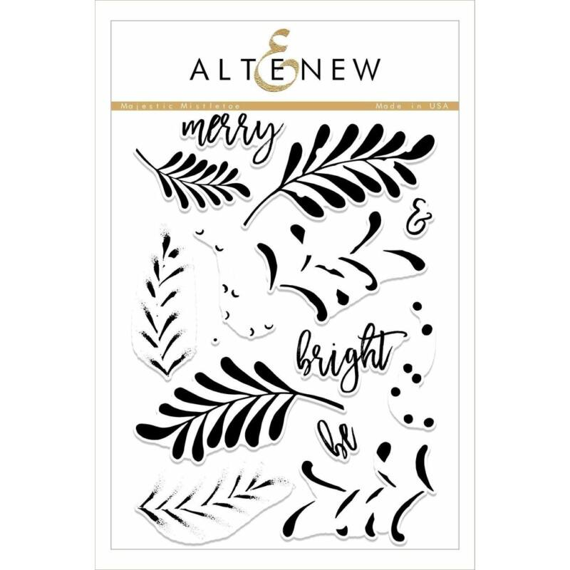 Altenew Majestic Mistletoe Stamp Set