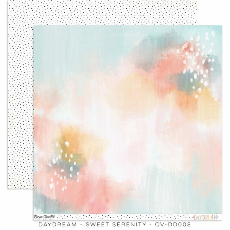 Cocoa Vanilla Studio - Daydream 12x12 Paper - Sweet Serenity