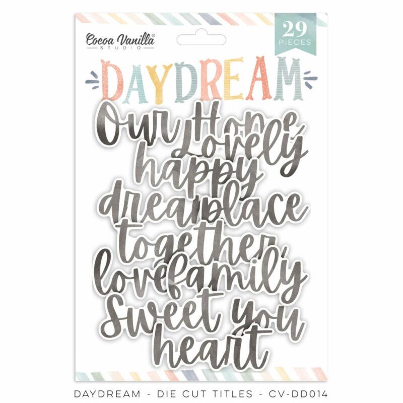 Cocoa Vanilla Studio - Daydream Die Cut Titles