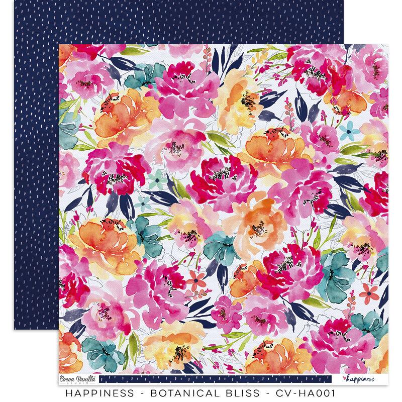 Cocoa Vanilla Studio - Happiness 12x12 Paper - Botanical Bliss