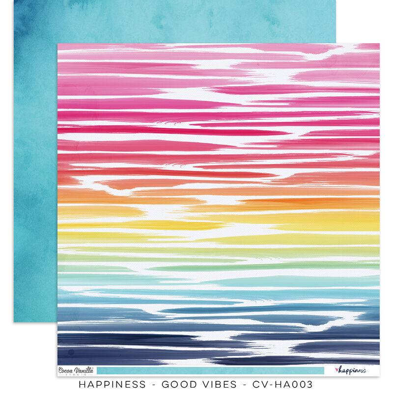 Cocoa Vanilla Studio - Happiness 12x12 Paper - Good Vibes