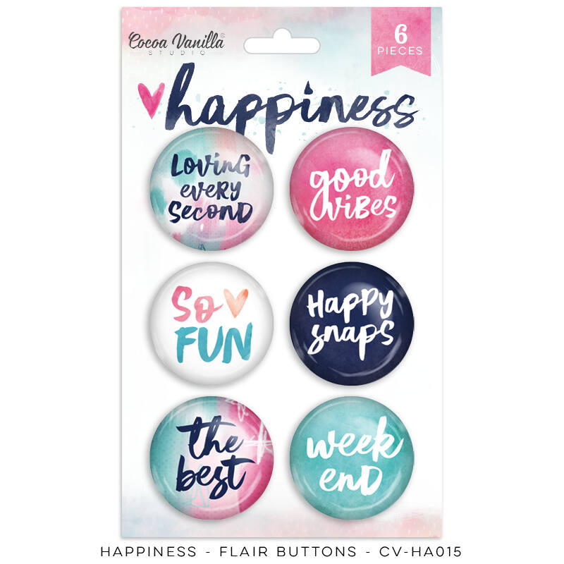 Cocoa Vanilla Studio - Happiness Flair Buttons