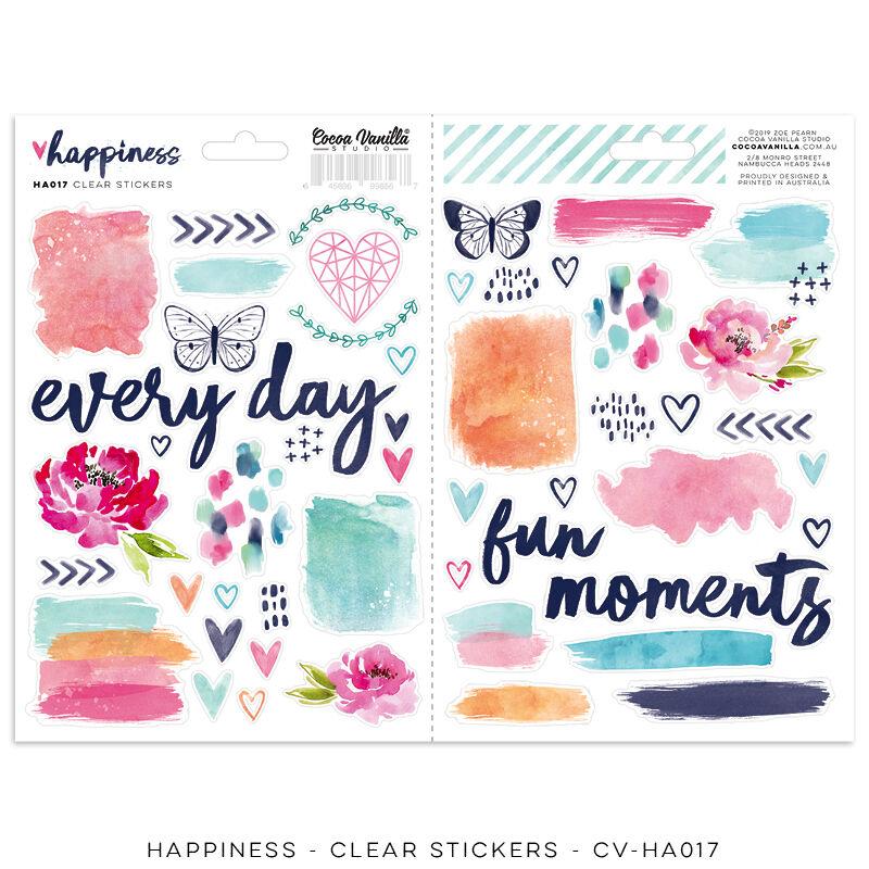 Cocoa Vanilla Studio - Happiness Clear Stickers