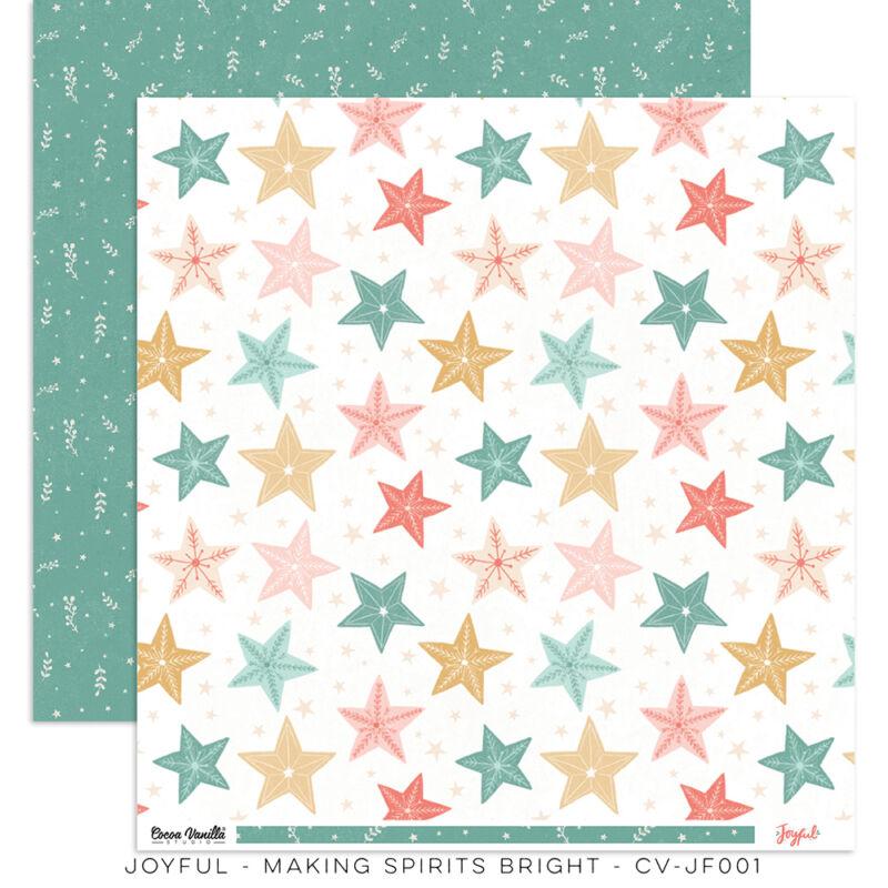 Cocoa Vanilla Studio - Joyful 12x12 Paper - Making Spirits Bright