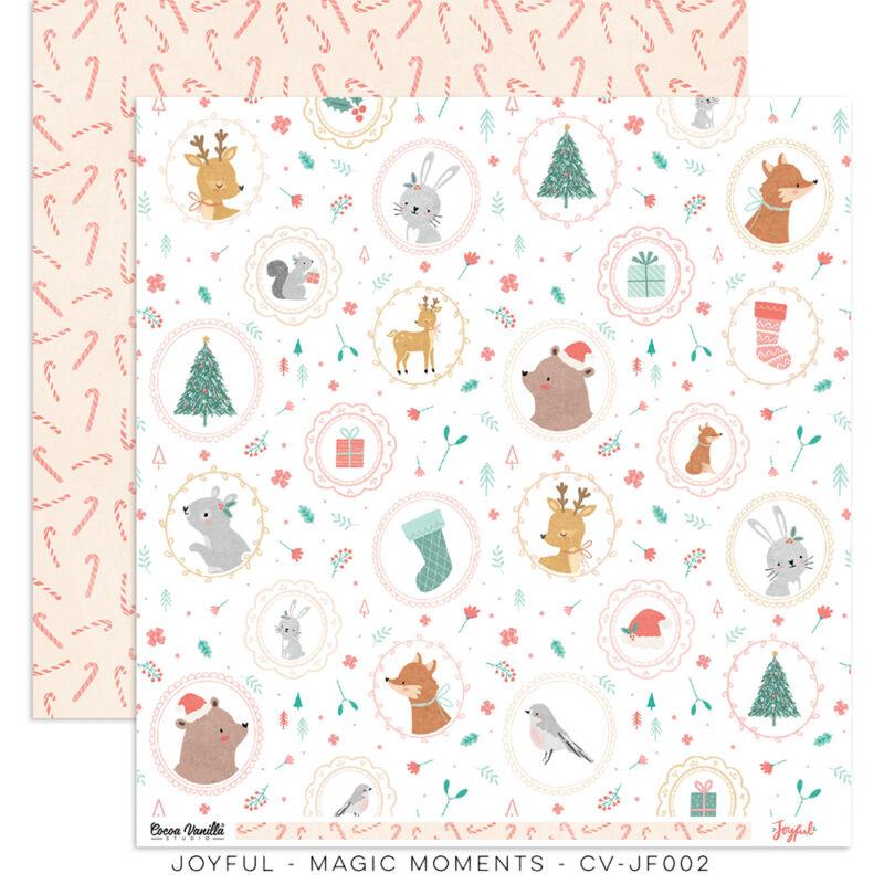 Cocoa Vanilla Studio - Joyful 12x12 Paper - Magic Moments