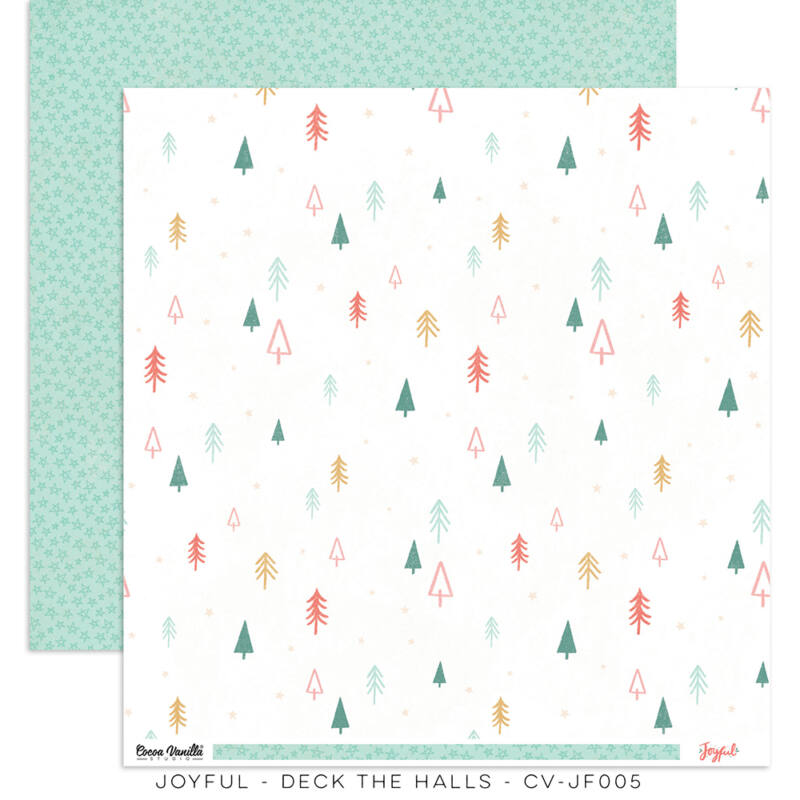 Cocoa Vanilla Studio - Joyful 12x12 Paper - Deck The Halls