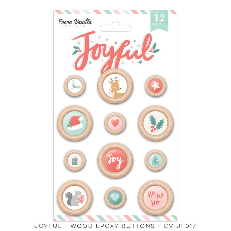 Cocoa Vanilla Studio - Joyful Wood Epoxy Buttons