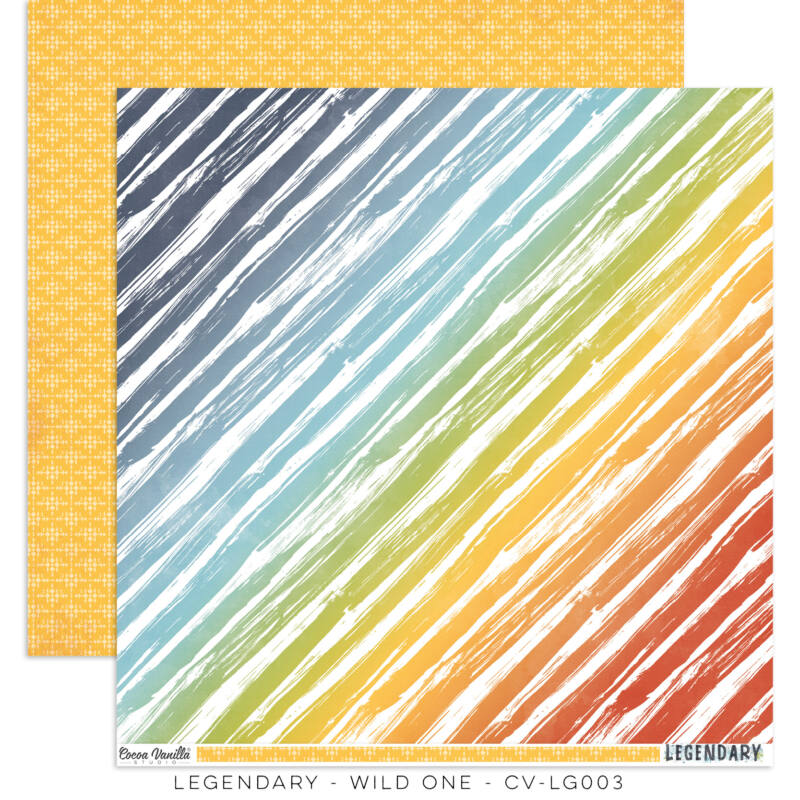 Cocoa Vanilla Studio - Legendary 12x12 Paper - Wild One